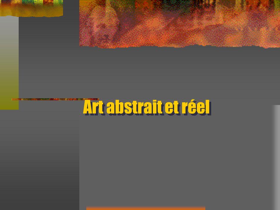 Art abstrait et réel