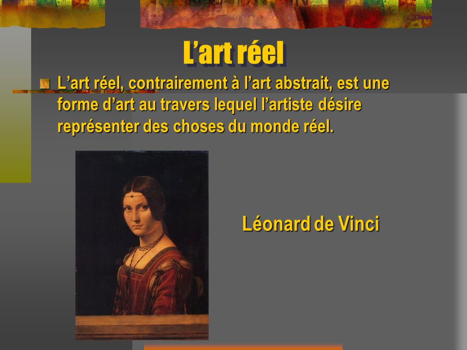 L'art réel Léonard de Vinci