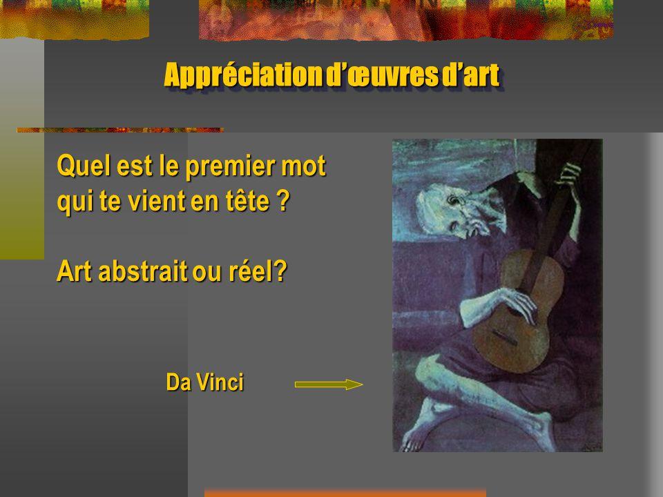 Appréciation d'œuvres d'art