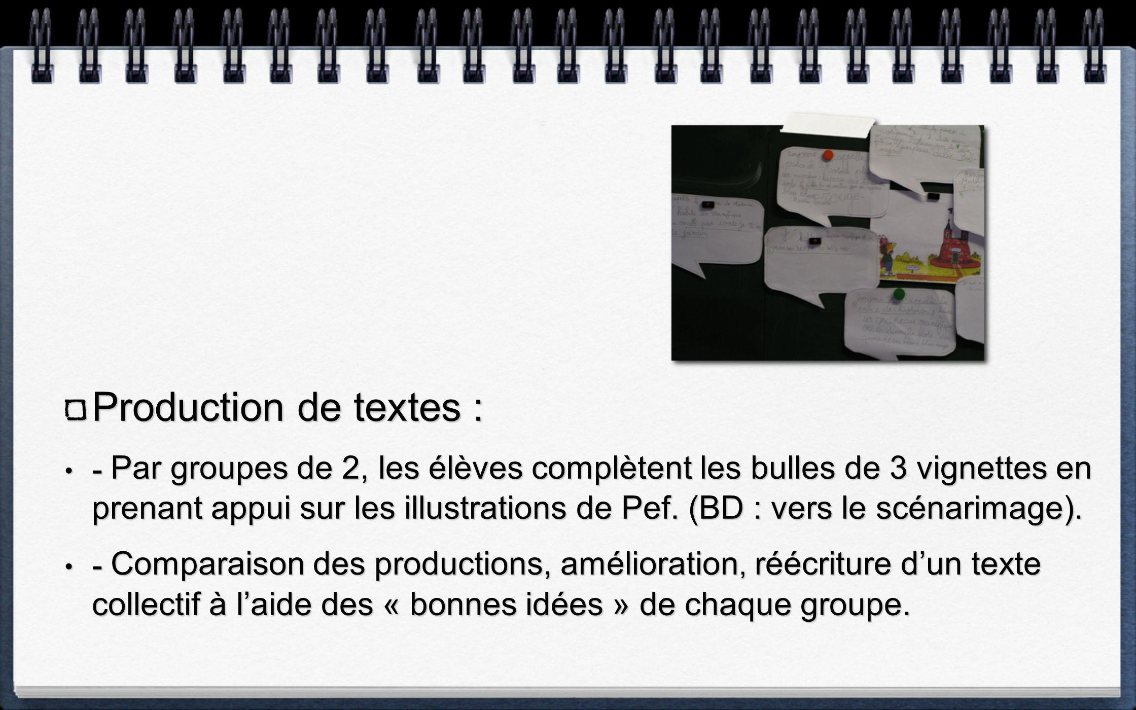 Production de textes :