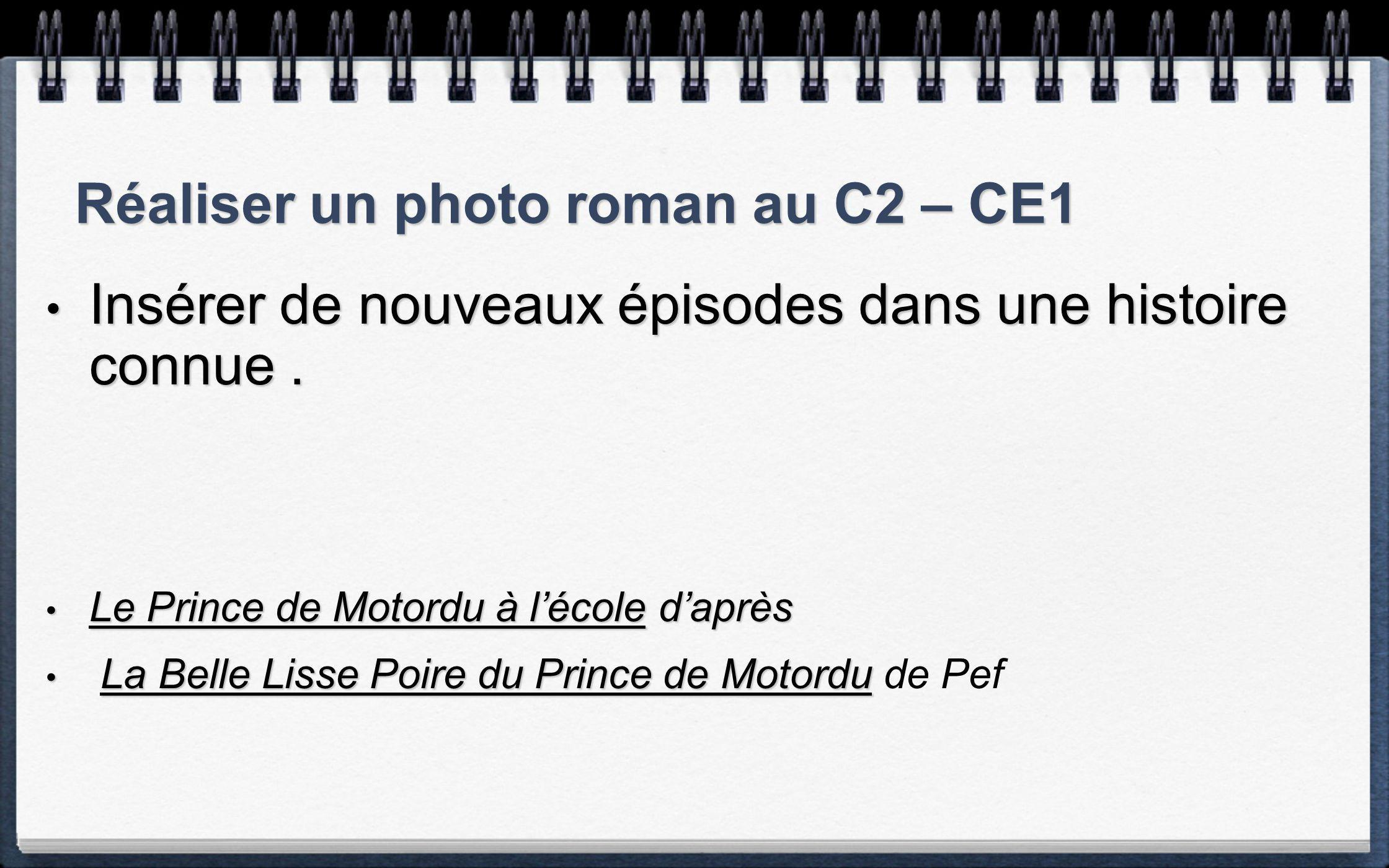 Réaliser un photo roman au C2 – CE1