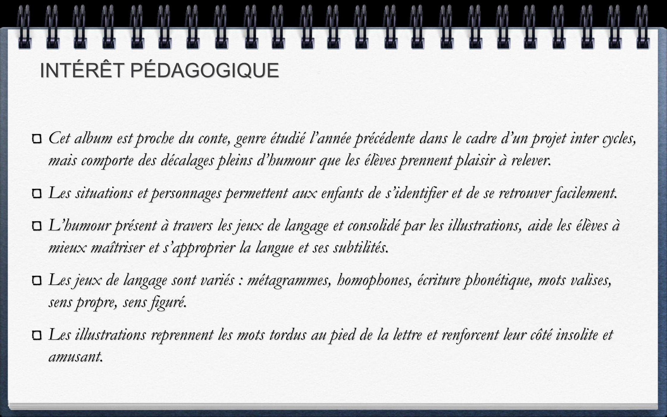 INTÉRÊT PÉDAGOGIQUE