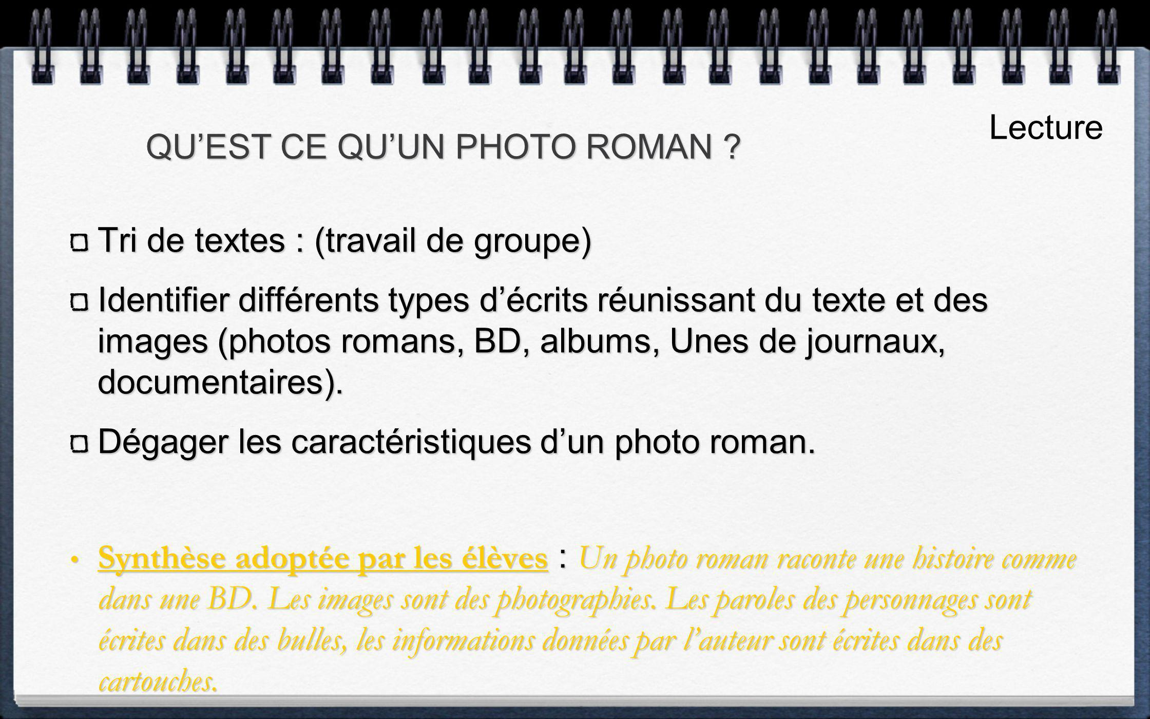 QU'EST CE QU'UN PHOTO ROMAN