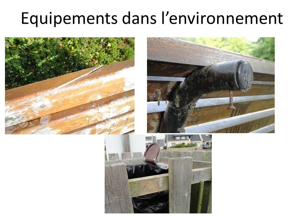 Equipements dans l'environnement