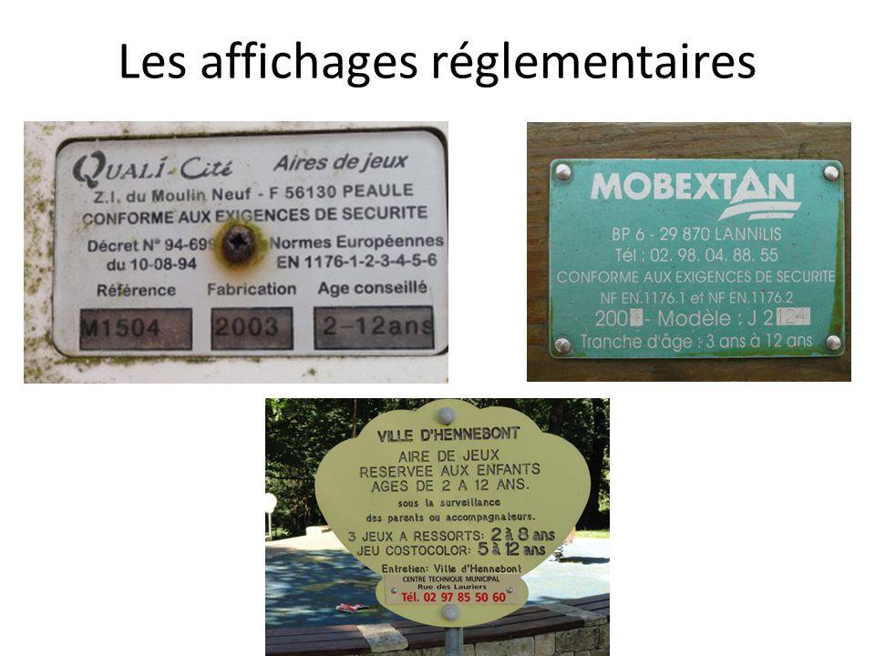 Les affichages réglementaires