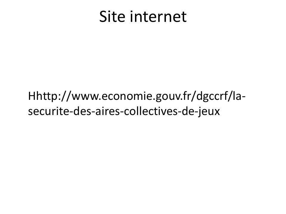Site internet Hhttp://www.economie.gouv.fr/dgccrf/la-securite-des-aires-collectives-de-jeux