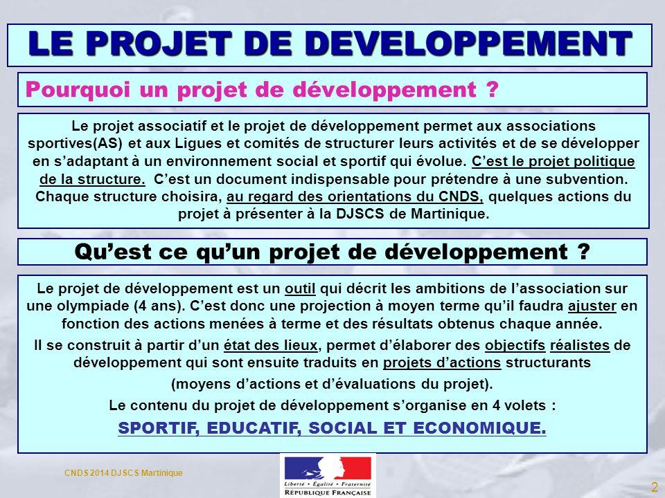 Pourquoi un projet de développement