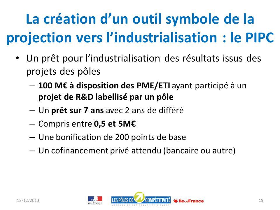 La création d'un outil symbole de la projection vers l'industrialisation : le PIPC