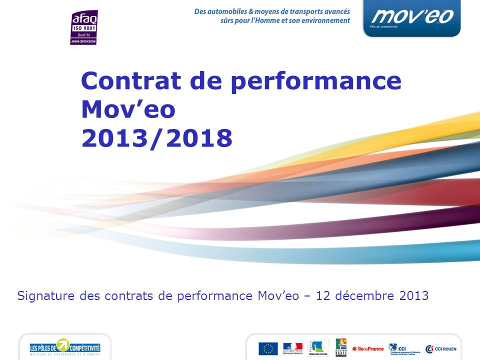 Contrat de performance Mov'eo 2013/2018