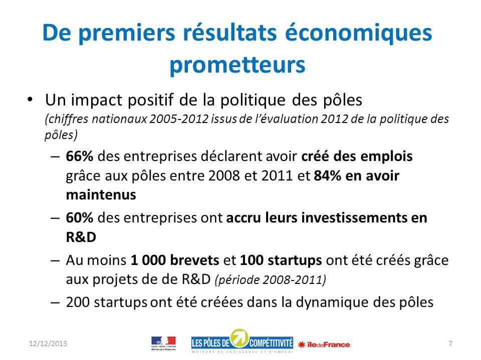 De premiers résultats économiques prometteurs