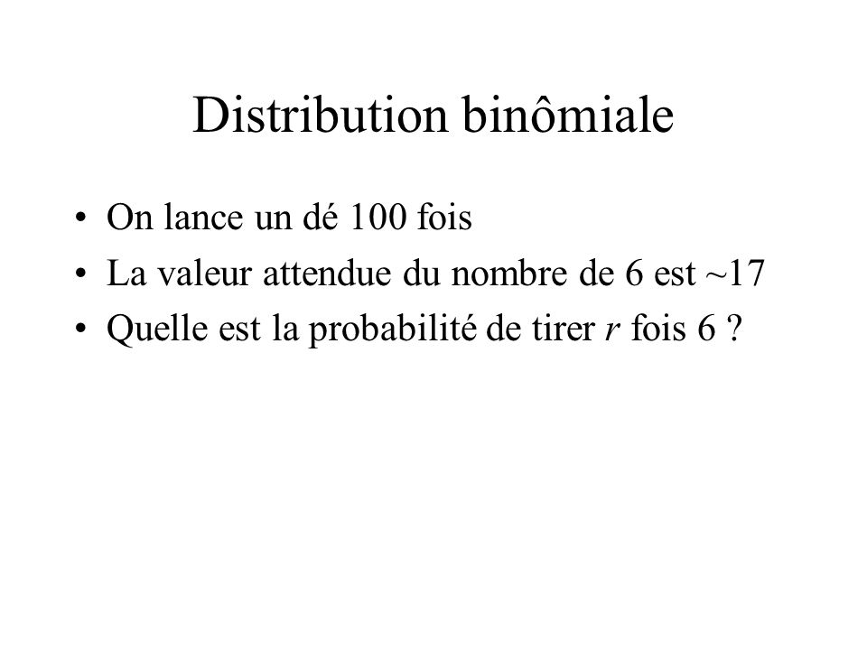 Distribution binômiale