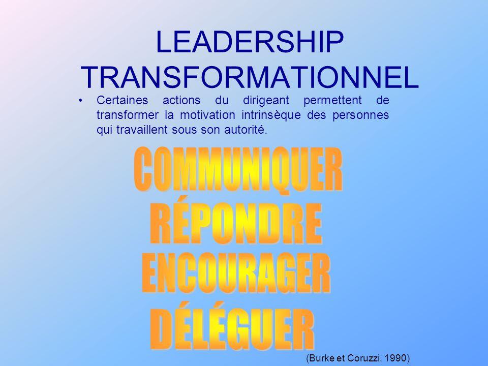 LEADERSHIP TRANSFORMATIONNEL