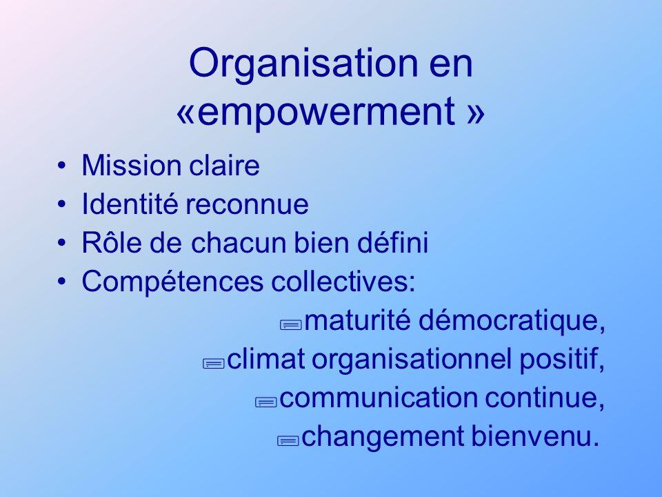 Organisation en «empowerment »