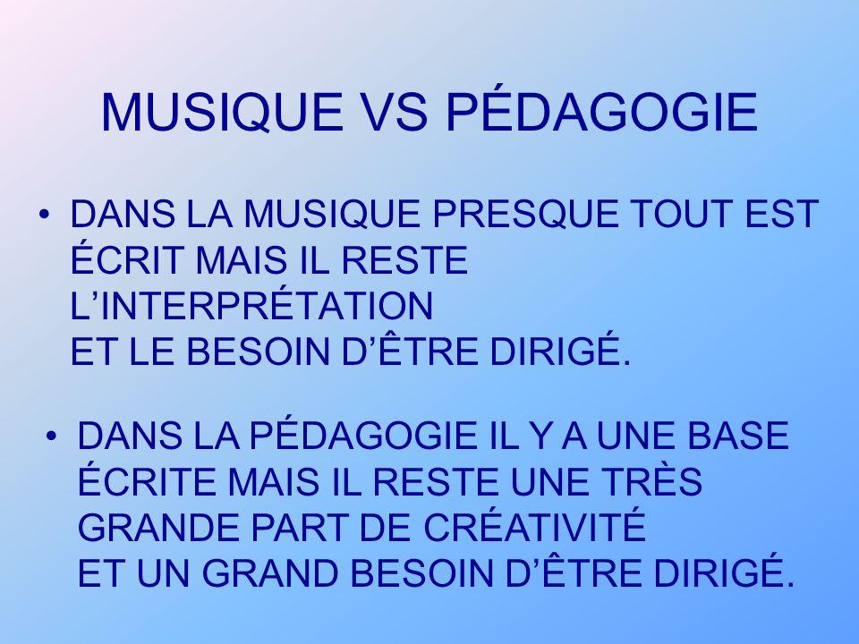 MUSIQUE VS PÉDAGOGIE