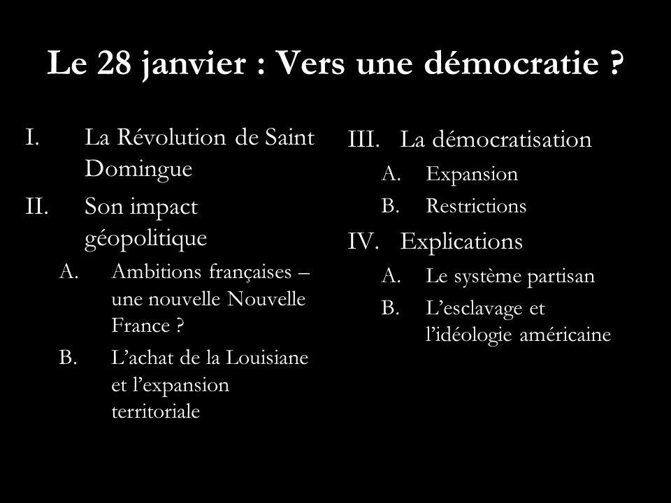 Le 28 janvier : Vers une démocratie
