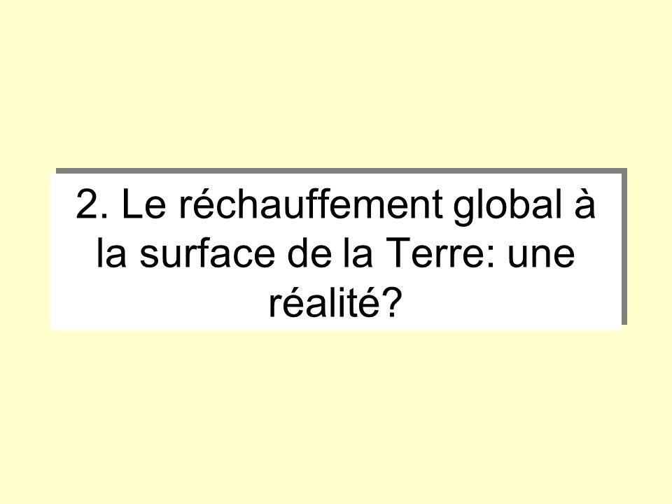 2. Le réchauffement global à la surface de la Terre: une réalité