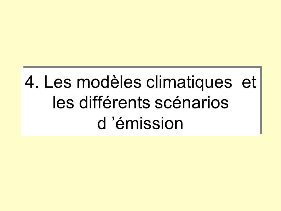 4. Les modèles climatiques et les différents scénarios d 'émission