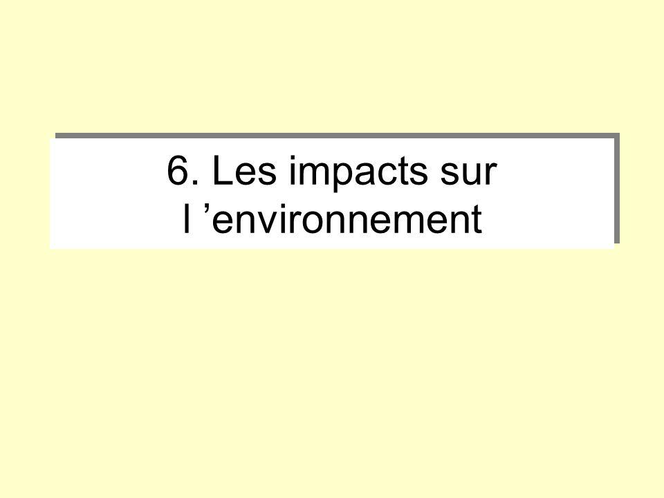 6. Les impacts sur l 'environnement