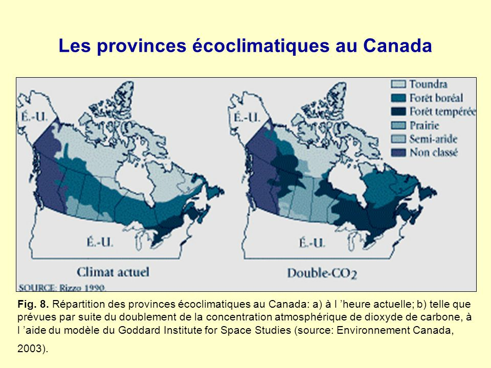 Les provinces écoclimatiques au Canada