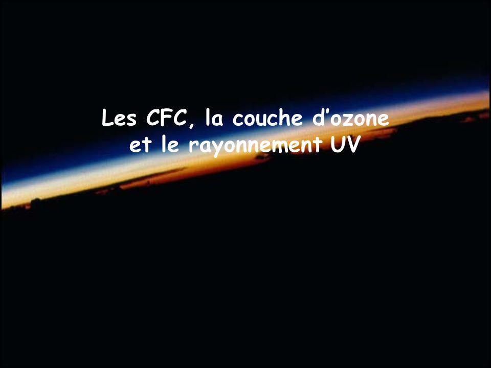 Les CFC, la couche d'ozone et le rayonnement UV