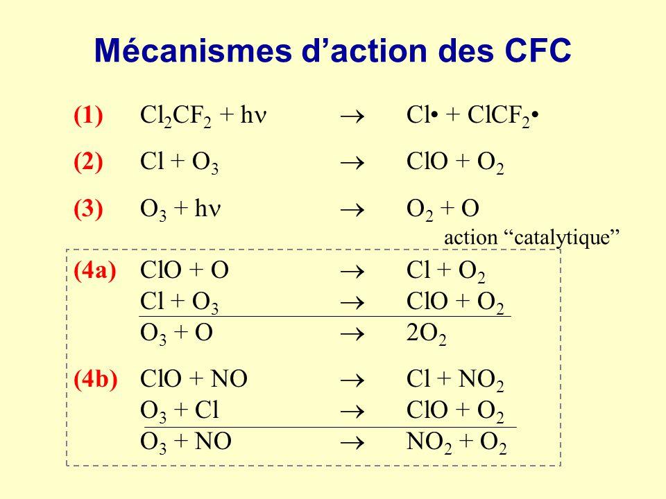 Mécanismes d'action des CFC