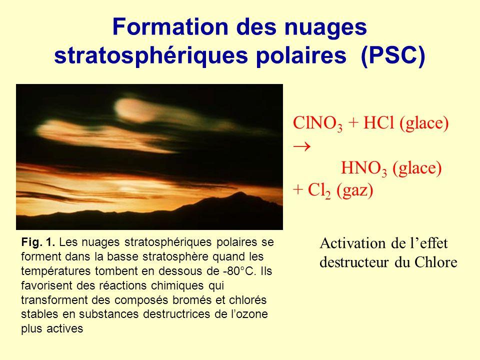 Formation des nuages stratosphériques polaires (PSC)