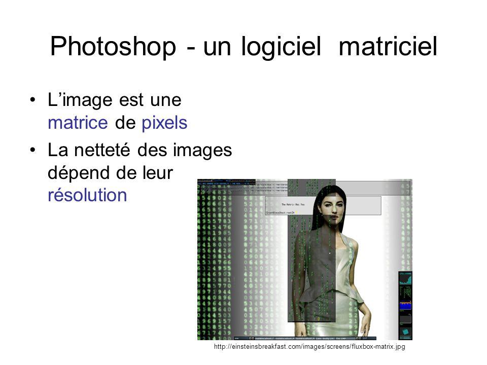 Photoshop - un logiciel matriciel