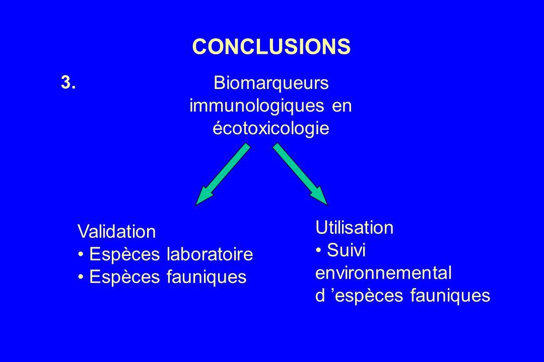 Biomarqueurs immunologiques en écotoxicologie
