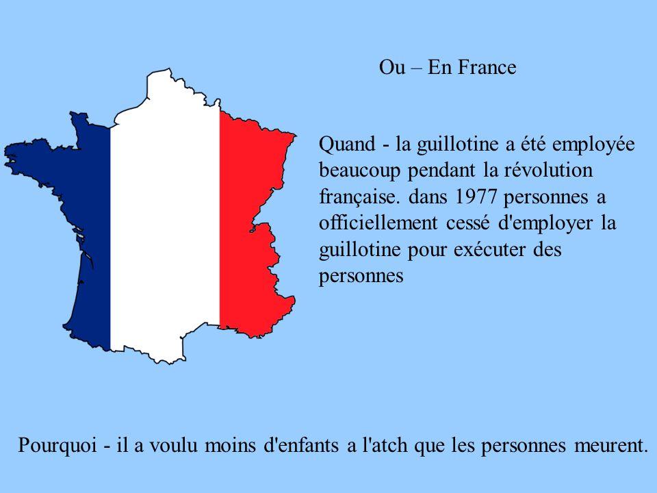 Ou – En France
