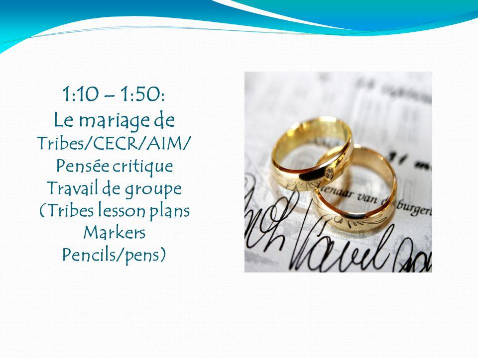 Le mariage de Tribes/CECR/AIM/