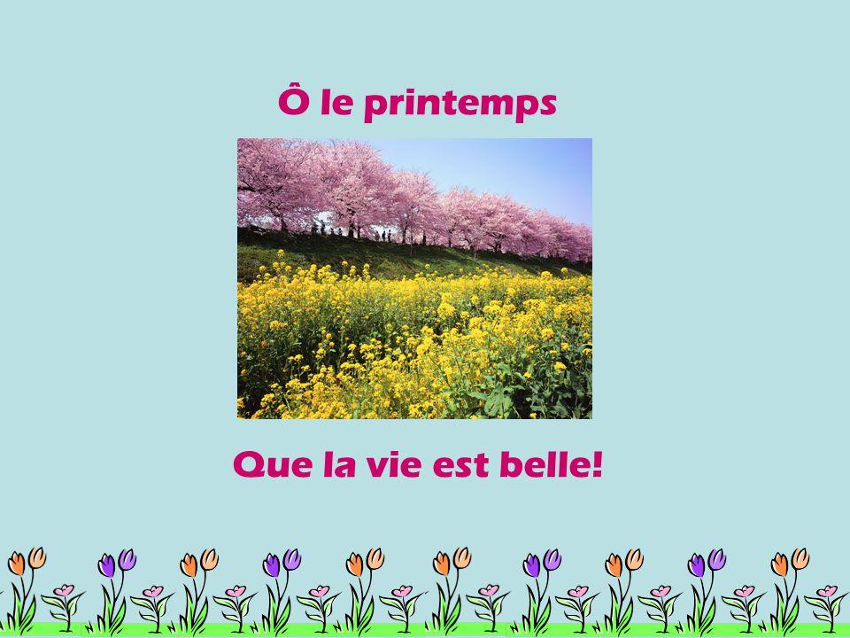 Ô le printemps Que la vie est belle!