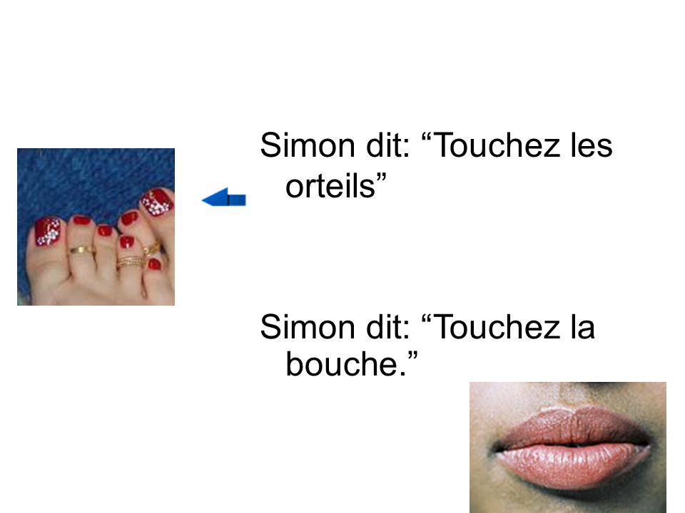 Simon dit: Touchez les orteils