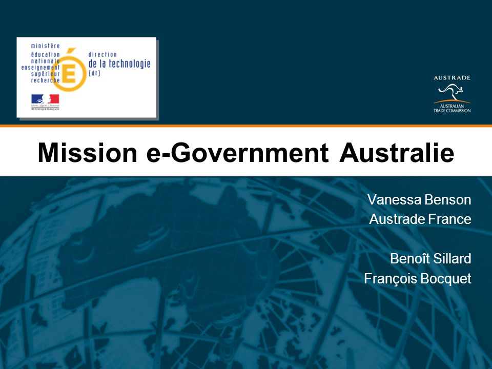 Mission e-Government Australie