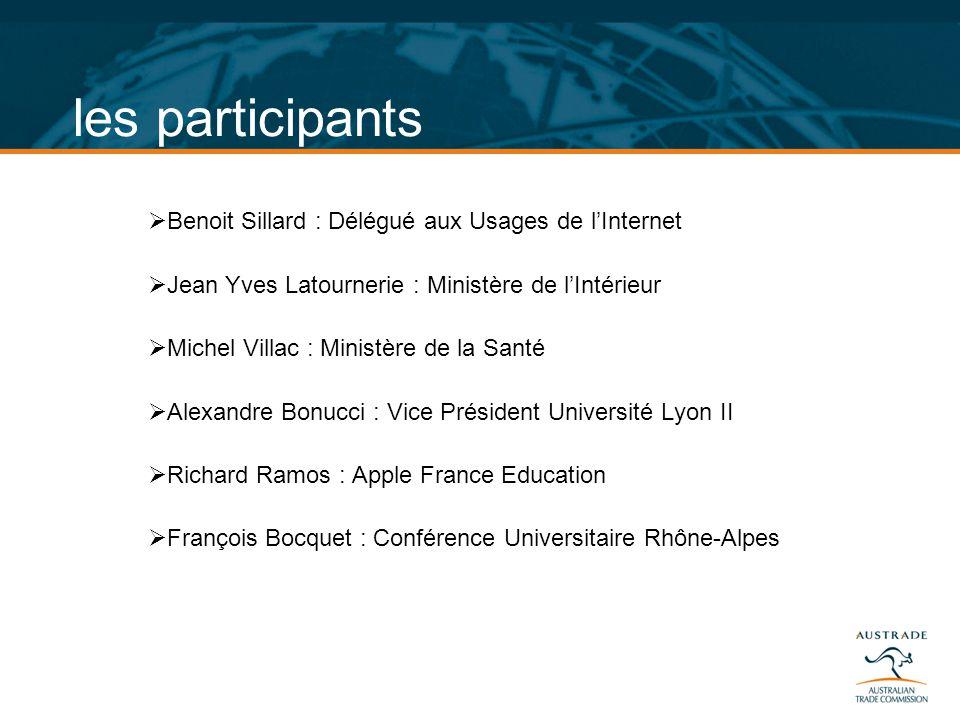 les participants Benoit Sillard : Délégué aux Usages de l'Internet