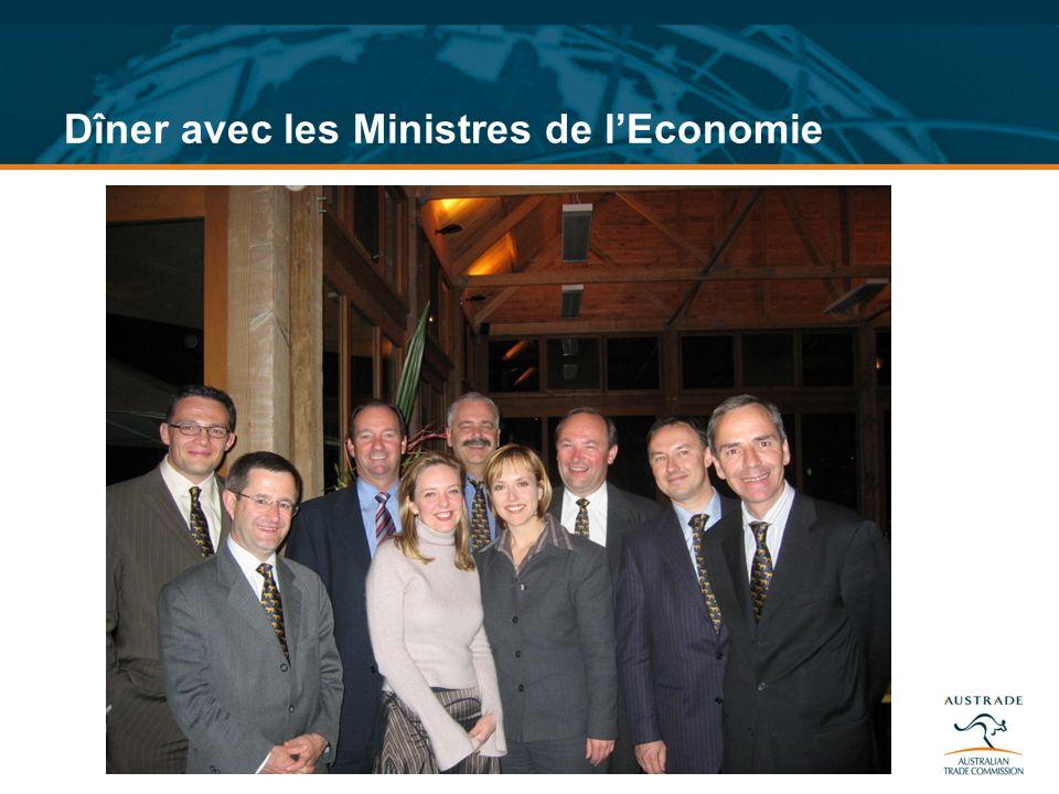 Dîner avec les Ministres de l'Economie