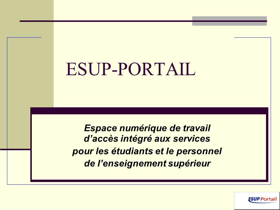 ESUP-PORTAIL Espace numérique de travail d'accès intégré aux services