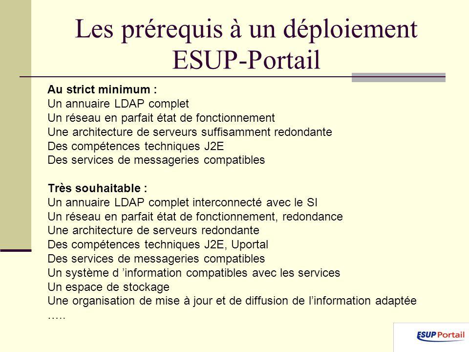 Les prérequis à un déploiement ESUP-Portail