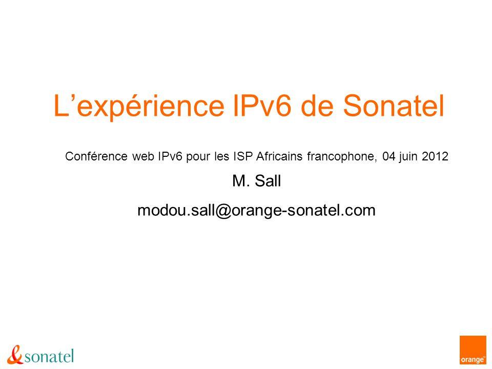 L'expérience IPv6 de Sonatel