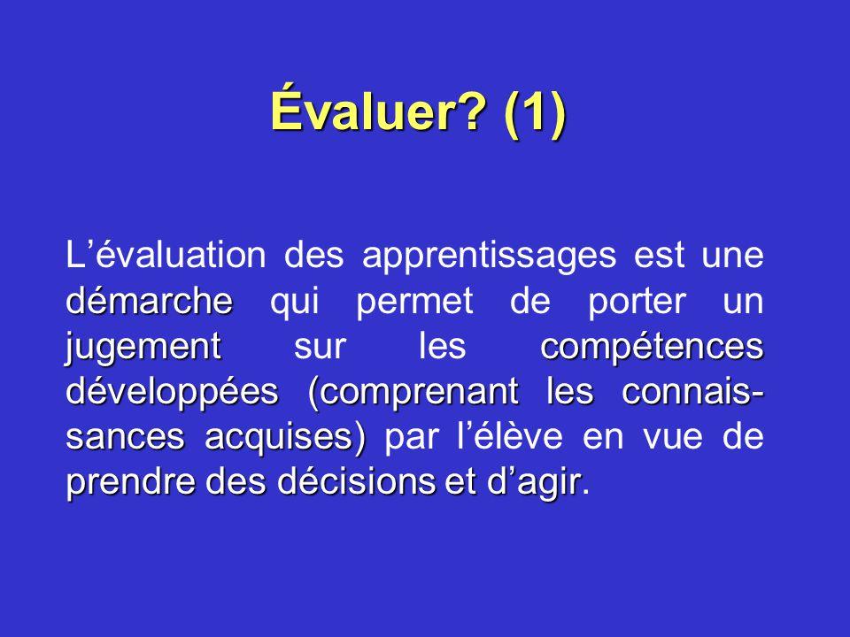 Évaluer (1)