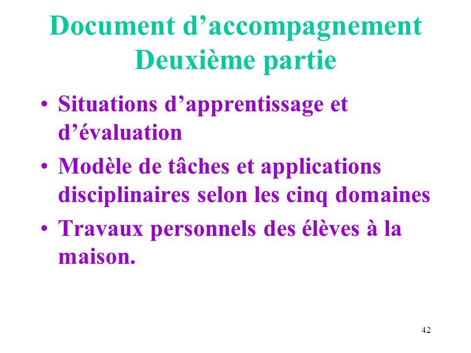 Document d'accompagnement Deuxième partie