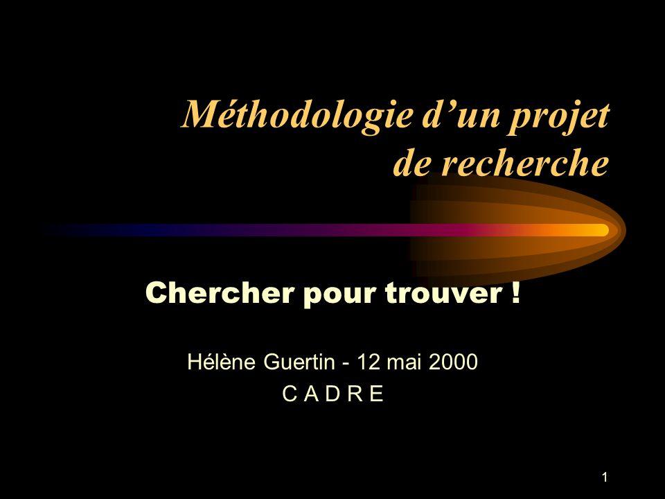 Méthodologie d'un projet de recherche