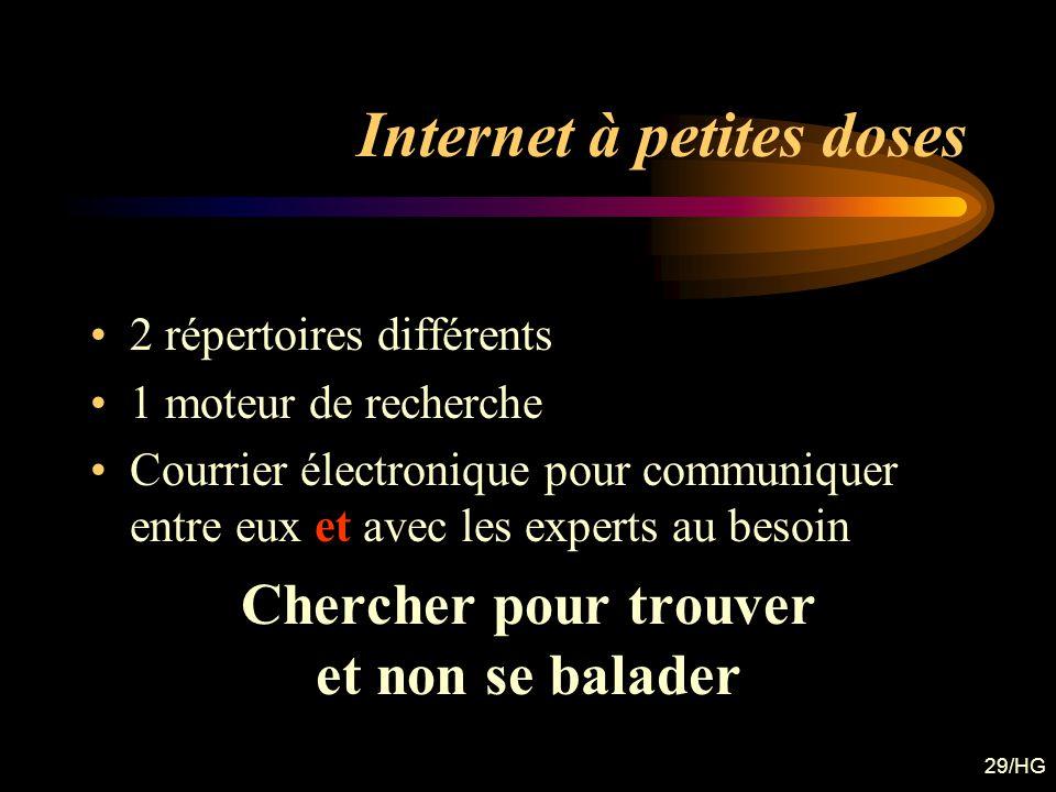 Internet à petites doses
