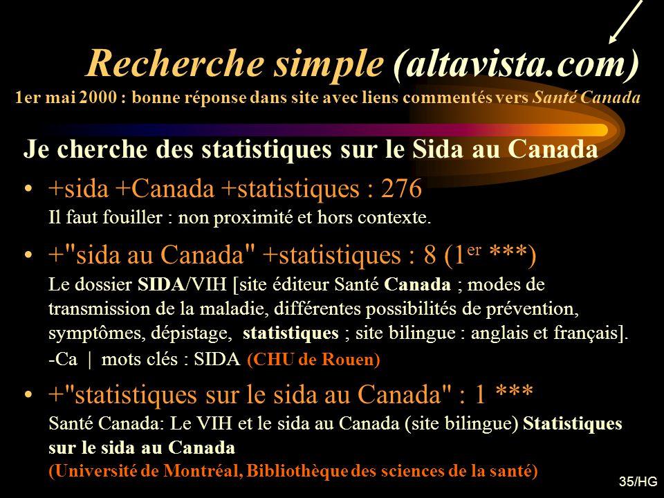 Recherche simple (altavista