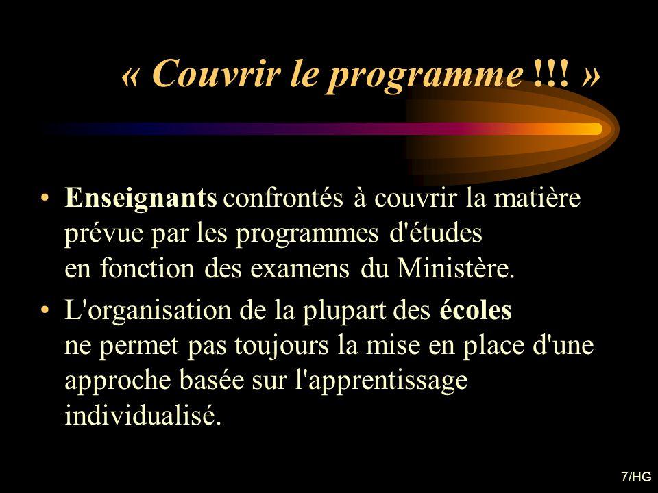 « Couvrir le programme !!! »