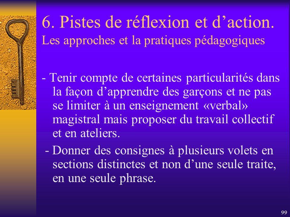 6. Pistes de réflexion et d'action
