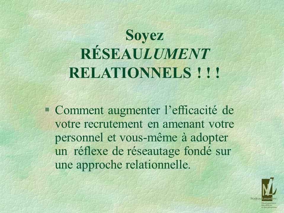Soyez RÉSEAULUMENT RELATIONNELS ! ! !