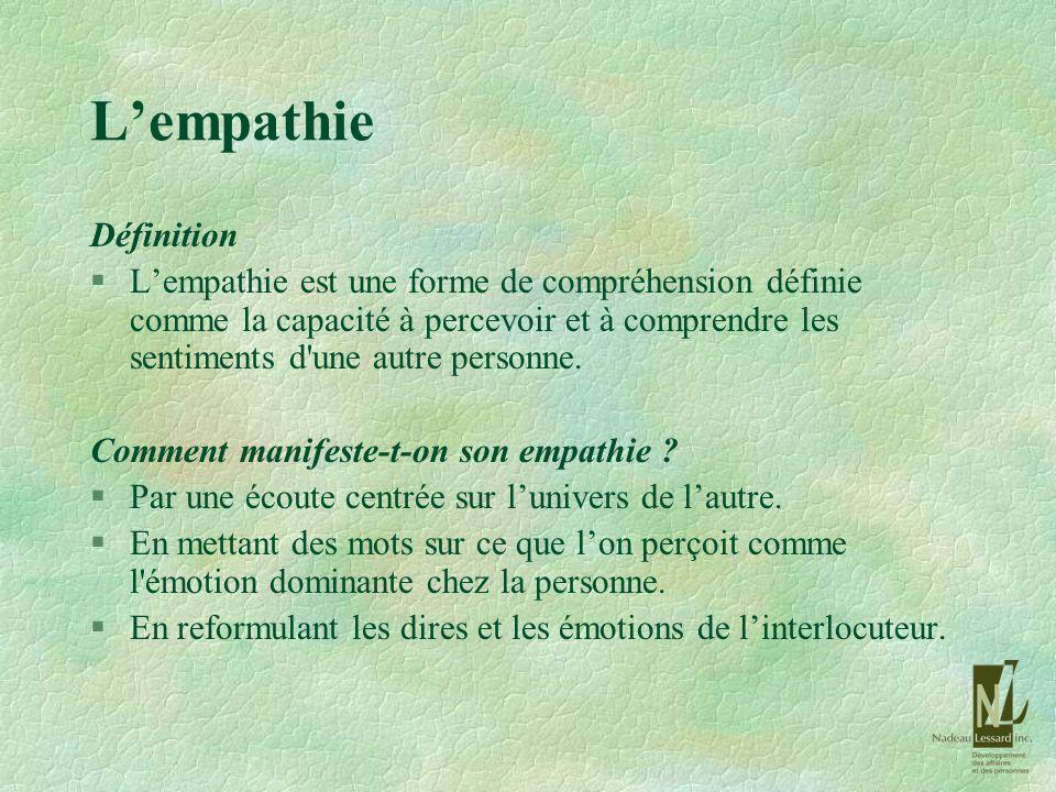 L'empathie Définition