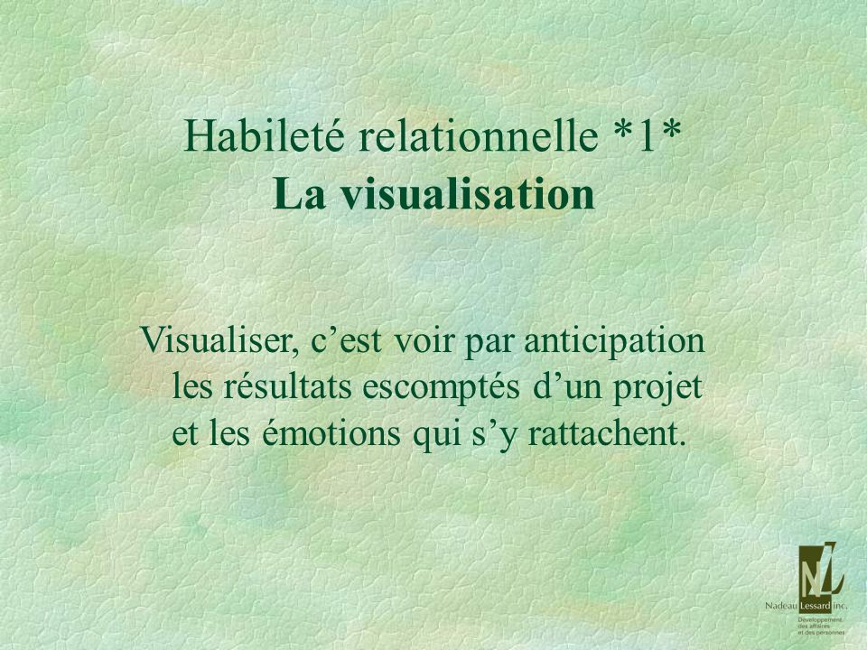 Habileté relationnelle *1* La visualisation