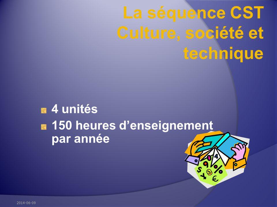 La séquence CST Culture, société et technique