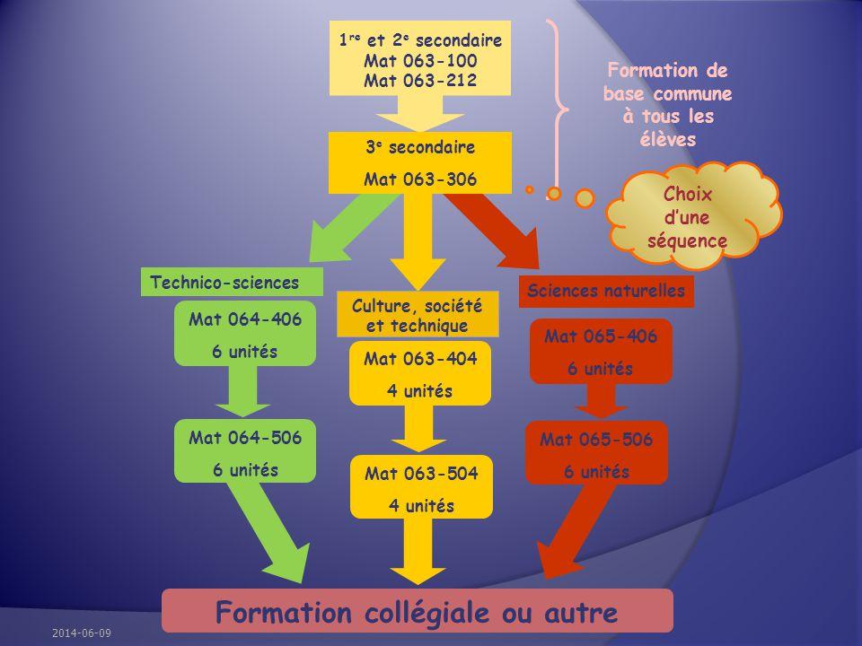 Formation collégiale ou autre